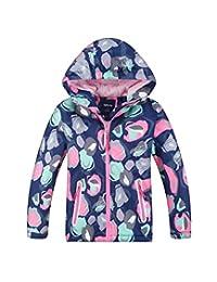 Hiheart Boys Girls Windproof Polar Fleece Lined Coat Outdoor Jacket