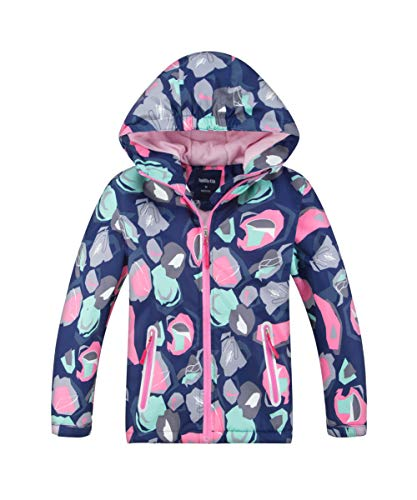 - Hiheart Girls Waterproof Hooded Jackets Thick Padded Winter Coat Navy 7/8