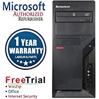 Lenovo M58P Business High Performance Tower Desktop Computer PC (Intel C2D E8400 3.0G,4G RAM DDR3,320G HDD,DVD-ROM,Windows 10 Professional)(Certified Refurbished)