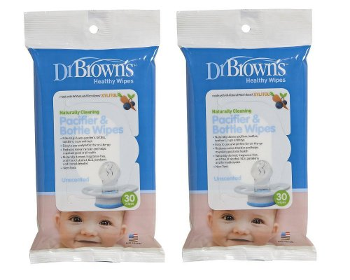 Browns Pacifier Bottle Wipes Pack stock