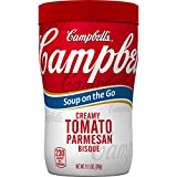 tomato bisque - Campbell's Soup on the Go, Creamy Tomato Parmesan Bisque, 11.1 Ounce (Pack of 8)