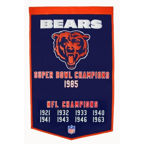 - Chicago Bears Super Bowl Championship Dynasty Banner - with hanging rod
