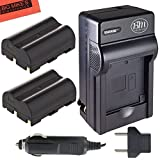 Pack Of 2 BP-511 BP-511A Batteries & Battery Charger for Canon EOS 5D, 50D, 40D, 20D, 30D, 10D, Digital Rebel, 1D, D60, 300D, D30, Kiss, Powershot G5, Pro 1, G2, G3, G6, G1, Pro90 is, Optura 20, Xi, 10, PI, 200MC, 100MC + More!!