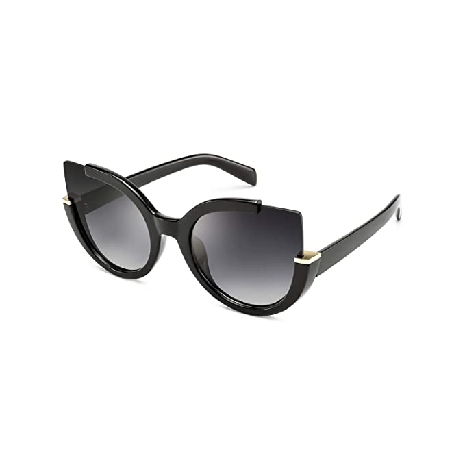 Mosanana Oversized Cateye Sunglasses for Women Fashion Retro Style 51807