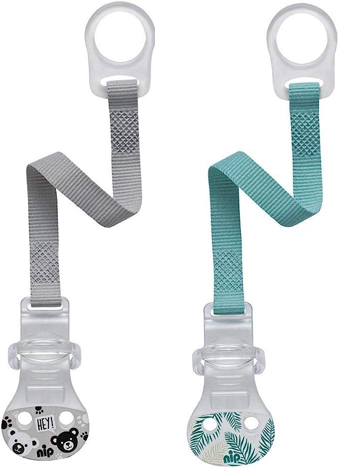 Nip Pacifier avec anneau//Lot de 2 Boy//fermeture Confort pour ...
