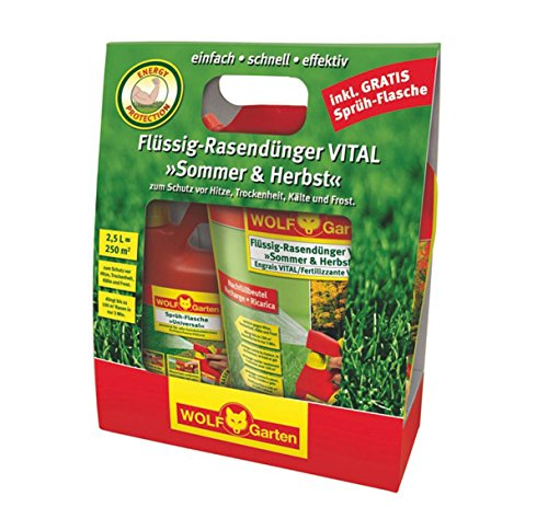 WOLF-Garten Set LV 250 R Flüssig-Rasendünger VITAL Sommer und Herbst 4009269388818, 30 x 130 x 350 cm, rot/gelb, 3848035