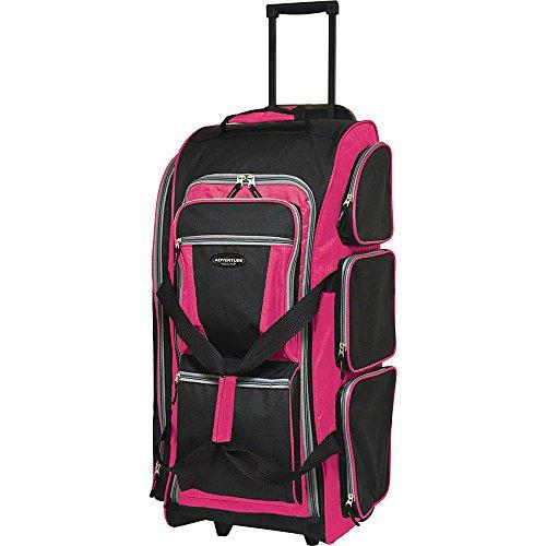 travelers-club-luggage-30-multi-pocket-upright-duffel-travel-duffel-new-pink
