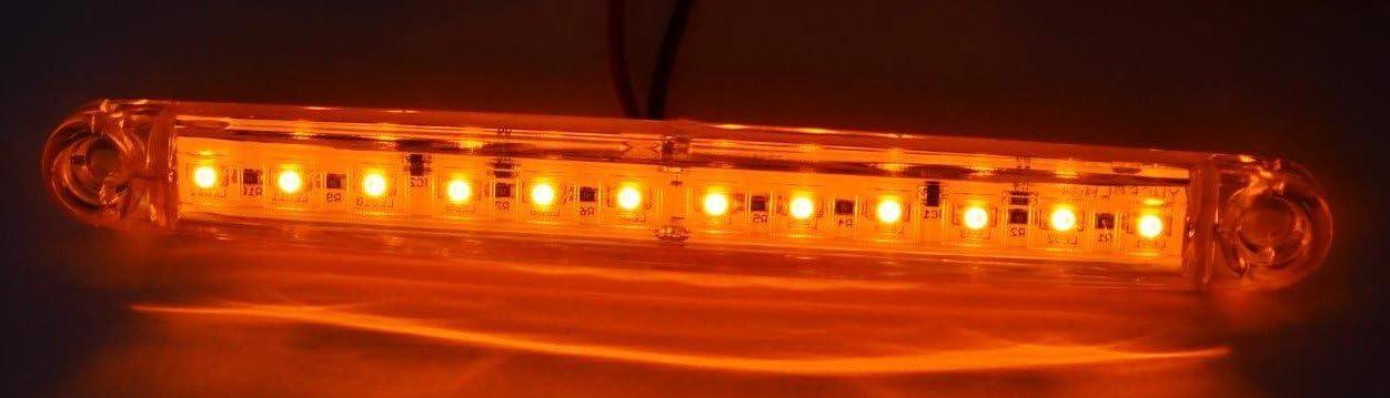 10/x 24/V Orange Ambre 12/LED c/ôt/é Outline Feux de gabarit lamps Cabine de camion remorque socle basculant pour ch/âssis