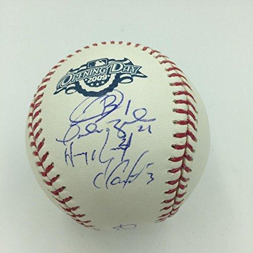 2009 Florida Marlins Opening Day Starting Lineup Team Signed MLB Baseball