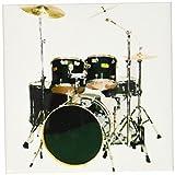 3dRose Drums Ceramic Tile Coaster, Set of 4