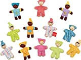 Hape Happy Babies Toddler Pocket Dolls Set of 12