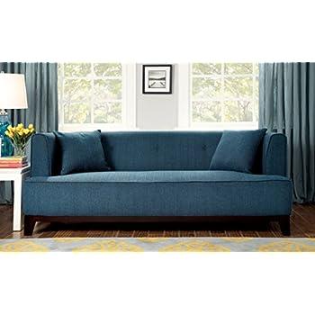 Nice Furniture Of America Elsa Neo Retro Sofa, Teal