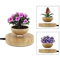 Micro Landscape Gardening Levitating Magnetic Floating Air Bonsai Plant Pot with Luminous Princess Mononoke Tree Elves Decoration Set (6 pieces)
