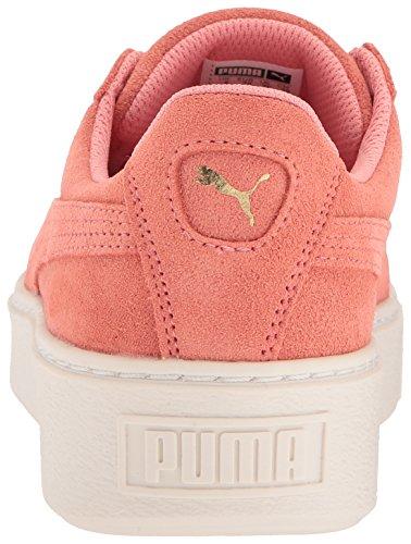 PUMA Kids Suede Platform Glam Sneaker, Team Gold-Shell Pink, 10.5 M US Little Kid