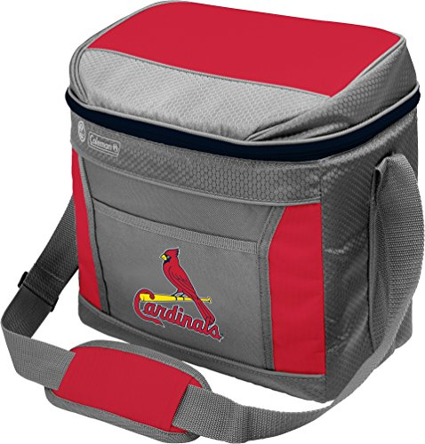 Coleman MLB Soft-Sided Insulated Cooler Bag, 16-Can Capacity, St. Louis Cardinals