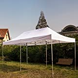 Snail 10' X 20' Pop-up Outdoor Shelter, Heavy Duty Aluminum Canopy, Commercial Portable Tent, White