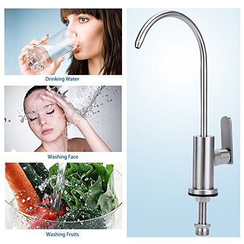 cold water filter faucet.  HOMEIDEAS Single Handle Drinking Water Faucet Cold Filter Food Grade 304 Stainless
