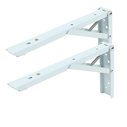 Hardware Intelligent 2pcs Triangle Folding Angle Bracket Heavy Support Adjustable Wall Mounted Bench Table Shelf Bracket Furniture Hardware Attractive Appearance