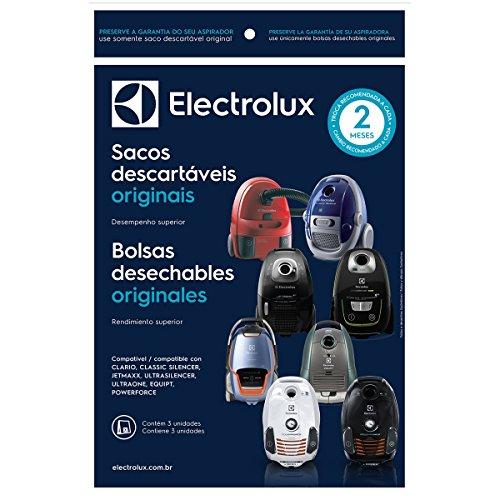 Kit 3 Sacos Descartáveis Clario Para Aspirador De Pó Electrolux