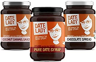 product image for Date Lady Date Syrup, Chocolate, Caramel Packs | NO HFCS, ORGANIC, VEGAN, GLUTEN-FREE & KOSHER | For Coffee, Pancakes, Oatmeal (Variety Pack, 3-pack)