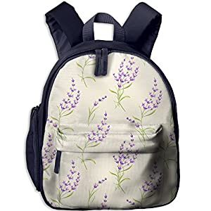 Sunmoonet Girls Backpack, Lavender Purple Flora Pre School Backpack For Toddler