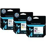 HP 711Cian Magenta Amarillo Designjet cartucho de tinta 80ml [unidades 1]