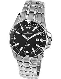 Jacques Lemans Men's Steel Bracelet & Case Automatic Black Dial Watch 1-1910A