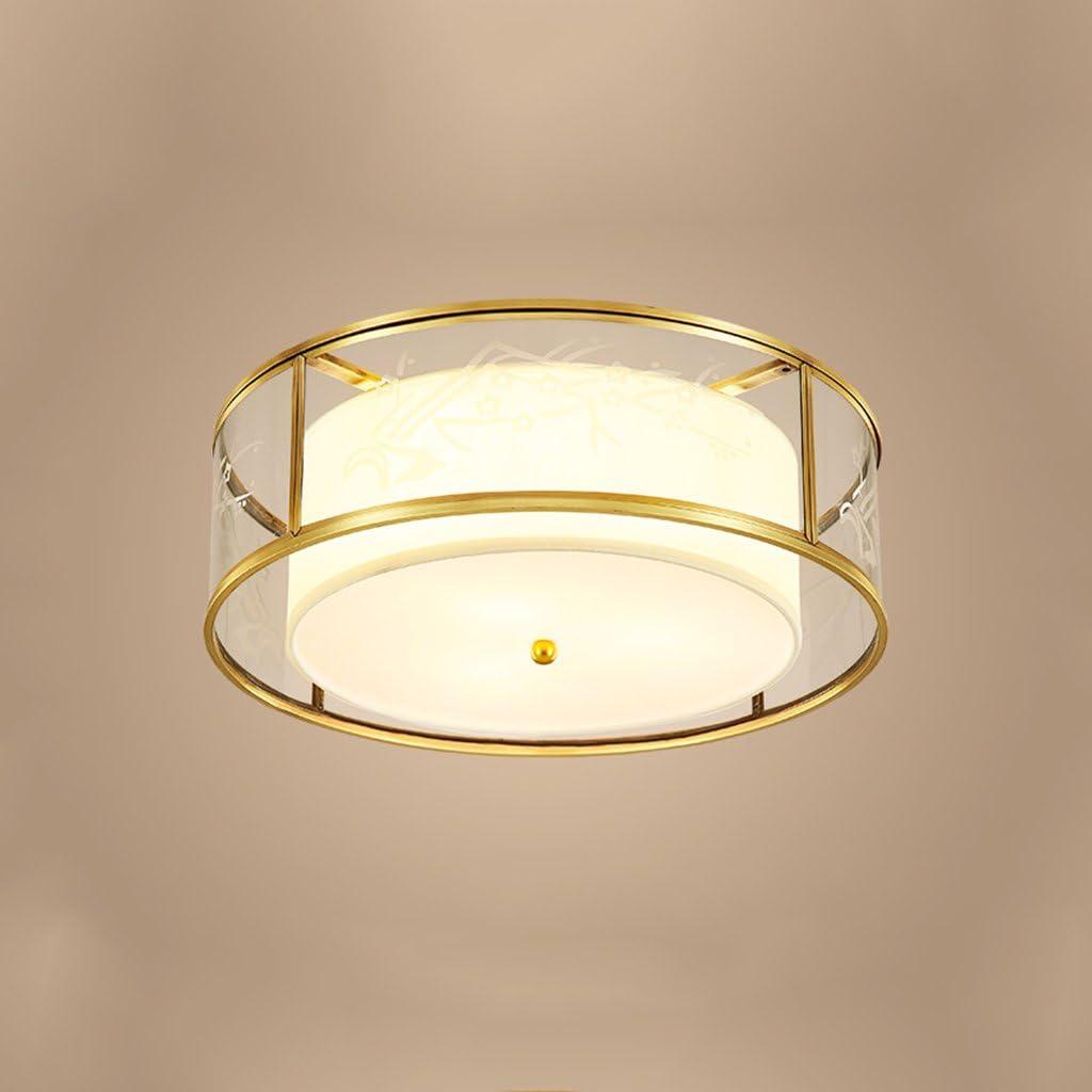 バルコニーのためのクリエイティブ調節可能なペンダントライト、アンティークラウンド銅LEDシーリングライト、防湿ランプ 318