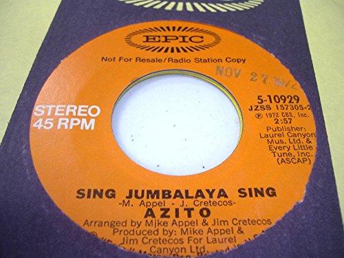 AZITO 45 RPM Sing Jumbalaya Sing / Same