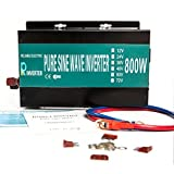 Reliable Powerdrive Inverter 800w 1600w Peak Pure Sine Wave Inverter 12v 120v 60hz LED Display