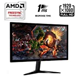"2017 Acer 23.6"" Full HD 1920 x 1080 Widescreen Gaming Monitor with AMD FREESYNC Technology, 1ms Response Time, 0.2715mm Pixel Pitch; -5°- 15° Tiltable Stand, 2 x 2W speakers, 2x HDMI, VGA, Black"