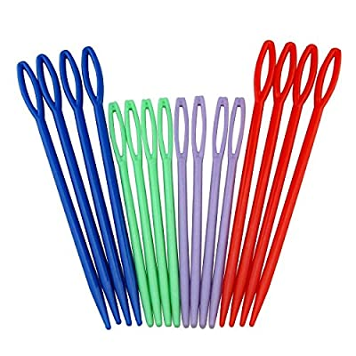 HIGHROCK Colorful Plastic Sewing Needles - 16picks from HIGHROCK