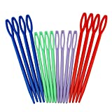HIGHROCK Colorful Plastic Sewing Needles - 16picks