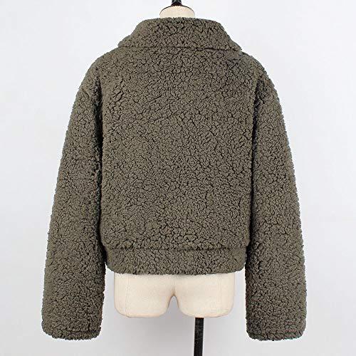 Cappotto Parka Manica Caldo Pelliccia Vicgrey Invernale Donna Lunga Maglione Pelle Outwear Casuale Inverno Autunno Coat Giacca Militare Donna Di Verde ❤ 5wq8B
