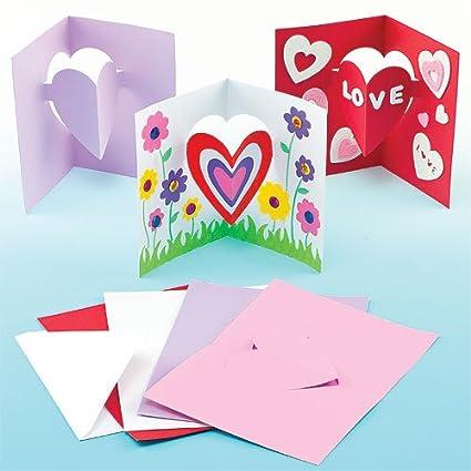 Amazon Com Baker Ross Children S Craft Heart Pop Out Cards For Kids