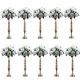 Sfeexun 10Pcs Versatile Metal Flower Arrangement & Candle Holder Stand Set Candlelabra for Wedding Party Dinner Centerpiece Event Restaurant Hotel Decoration
