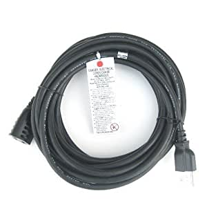 riteav 25 feet power extension cord indoor outdoor rated. Black Bedroom Furniture Sets. Home Design Ideas