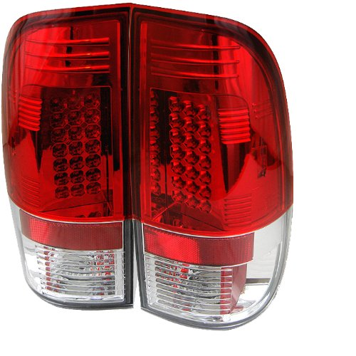 Spyder Red Housing Clear - Spyder Auto Ford Mustang Red Clear LED Tail Light