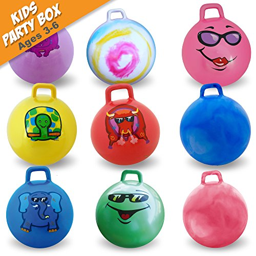 Bouncing Ball Original (WALIKI TOYS 10 Hippity Hop Ball | Hopper Balls Pack | Birthday Party Favors for Kids)