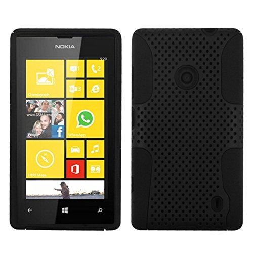 MyBat ASMYNA Astronaut Phone Protector Cover for Nokia Lumia 520 - Retail Packaging - Black (Nokia Lumia 520 Case Protector)