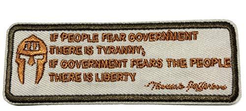 Thomas Jefferson - Tyranny - Liberty - Punisher Skull - Embroidered 4