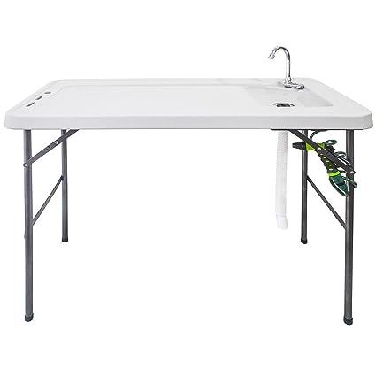 Amazon.com: Goplus Fregadero plegable para mesa de pescado ...