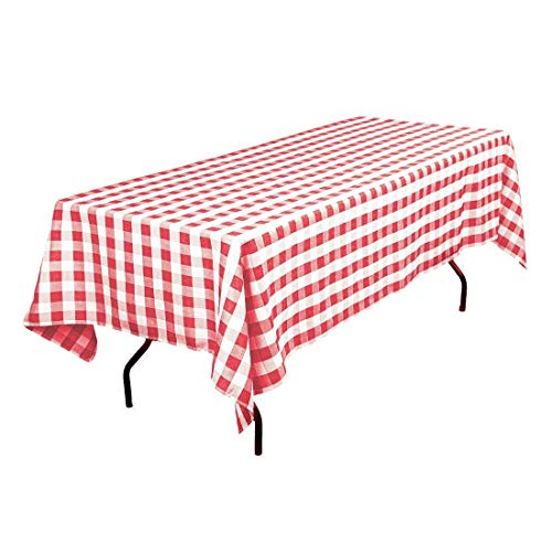 GFCC Red/White Gingham Checker Polyester Tablecloth for sale  Delivered anywhere in Canada