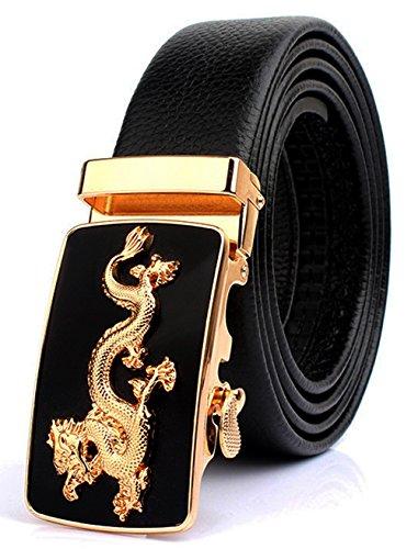 Designer Belt Buckle (ITIEZY ITIEZY Ratchet Automatic Buckle (Sliding Buckle) Leather Belt Strap for Men)
