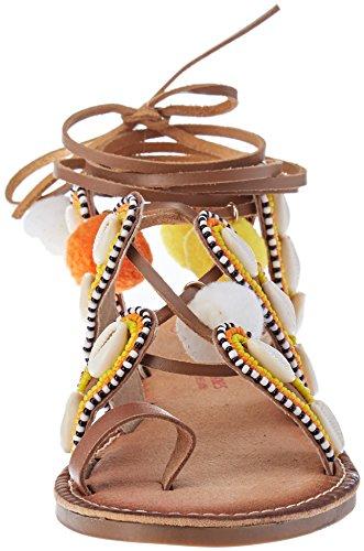 Gapita alla M Sandali Tan con Caviglia Tropéziennes Marrone par Multi Donna Les Belarbi Cinturino Iwq6Rx181