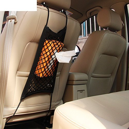 mictuning universal car seat storage mesh organizer mesh import it all. Black Bedroom Furniture Sets. Home Design Ideas