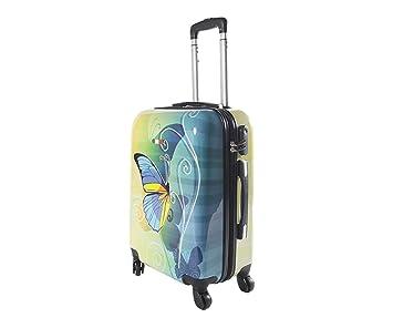 Equipaje de Mano 55 cm JUSTGLAM Maleta Cabina 4 Ruedas Trolley cascara Dura adecuadas para vuelos de bajo Cost Art Colorful: Amazon.es: Equipaje
