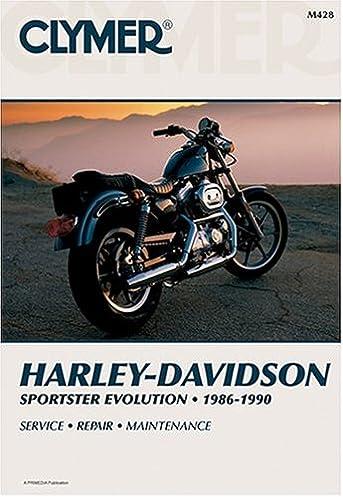 harley davidson sportster evolution 1986 1990 clymer motorcycle rh amazon com 1990 harley davidson sportster service manual Old School Sportster Bobber