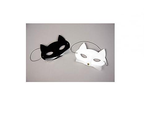 Máscara de gato papillón, negro