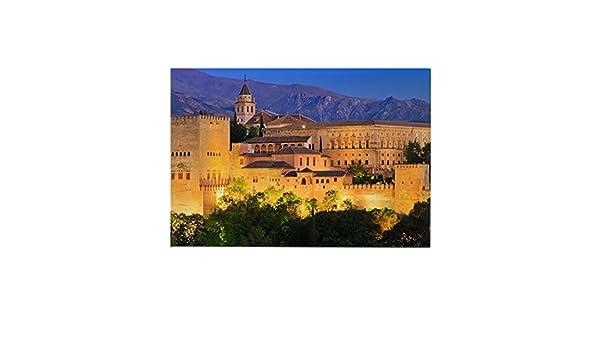 CafePress – Alhambra palace, Granada, España Rectangular imán – rectangular imán, 2